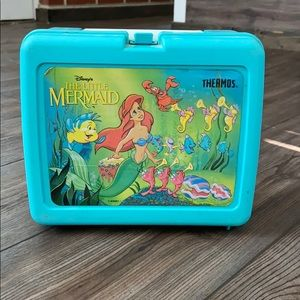 Vintage Disney thermos little mermaid lunch box